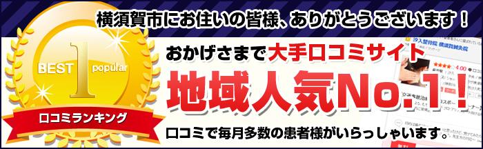 おかげさまで横須賀市口コミ地域NO.1